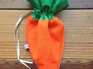 Vancouver Island made Easter gift ideas - carrot sac