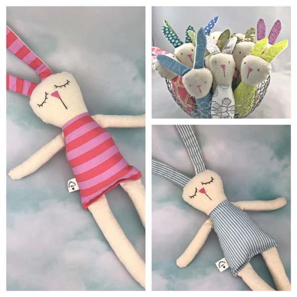 Vancouver Island made kid's easter gift ideas - handmade bunnies