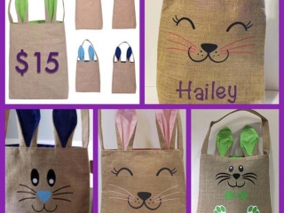customized easter sacs, Vancouver Island made Easter gift guide