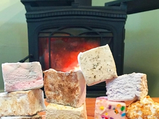 Variety of island made artisanal handcrafted marshmellows by Fluff Sisters, Sointula