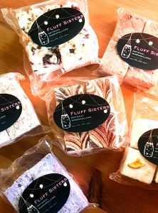 Variety of handcrafted artisanal marshmellows, made in Sointula off Vancouver Island