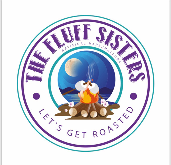 Fluff Sisters logo, artisanal marshmellows made in Sointula near Vancouver Island