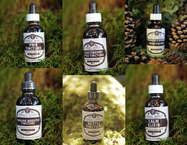 locally made Tinctures made on Vancouver Island by Forest Spirit Creations