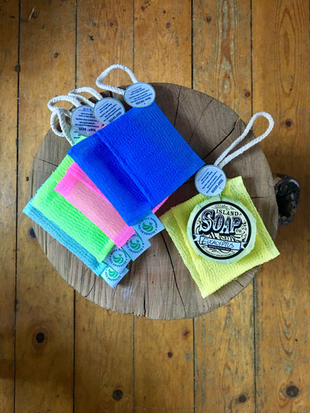 soap saver bags made on Saltspring Island by Green Bananas