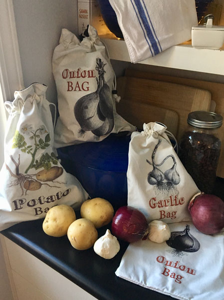 veggie bags made on Saltspring Island by Green Bananas