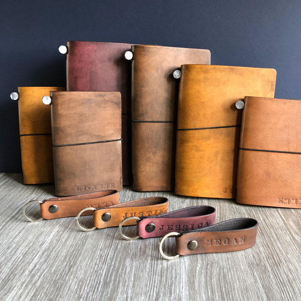 upcycled journals & key holders made on Salt Spring island B.C. Canada