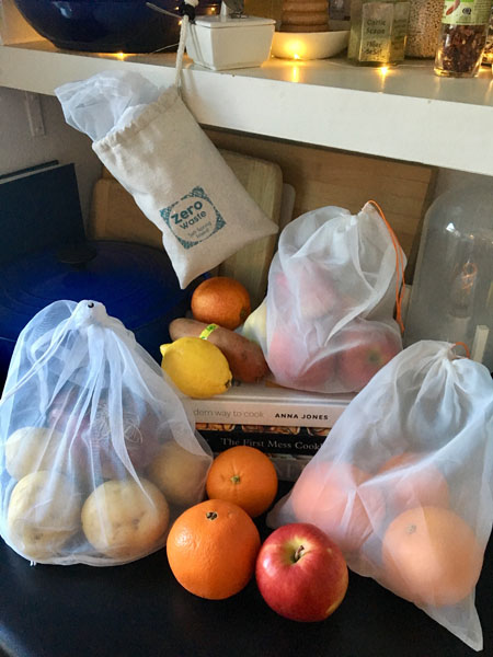 reusable produce bags Comes with 3 A5 sized replaceable inserts