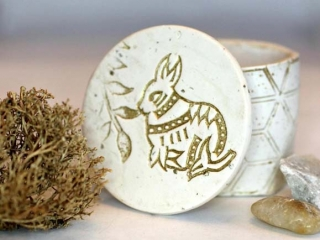 Bunny keepsake container, Vancouver Island Easter gift ideas