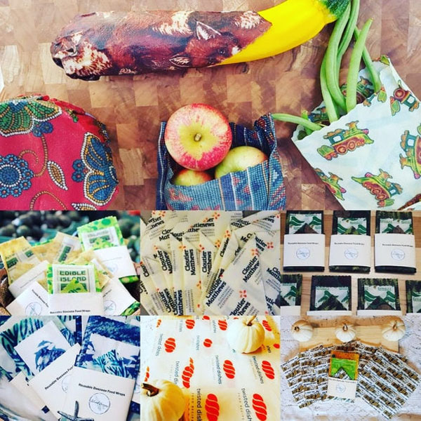 Reseusable beeswax wraps, vancouver island made stocking stuffer ideas
