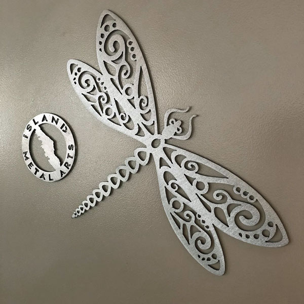 metal dragonfly, handcrafted on Vancouver Island by Island Metal Arts