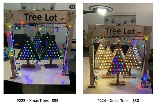 light up wooden christmas trees made on vancouver island in victoria