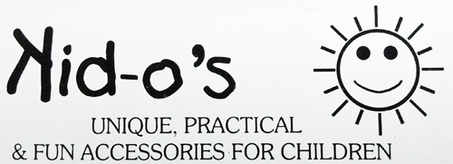Kid-o's logo, clothing and accessories handmade in Nanaimo on Vancouver Island