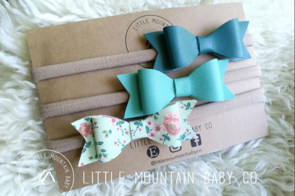 children's headbands handmade in Parksville by Little Mountain Baby on Vancouver Island