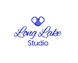 Long Lake Studio logo, upcycled jewelry made on Vancouver Island, Canada