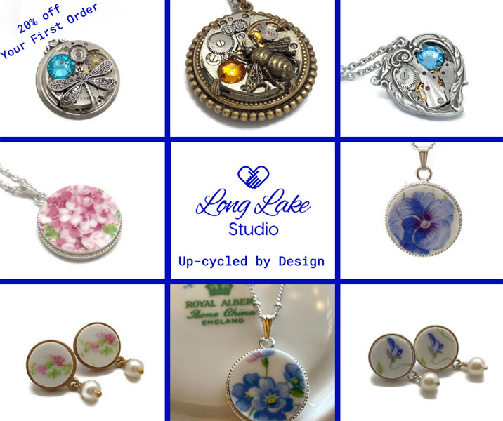 steampunk and vintage style pendants and earrings, Vancouver Island Christmas gift ideas
