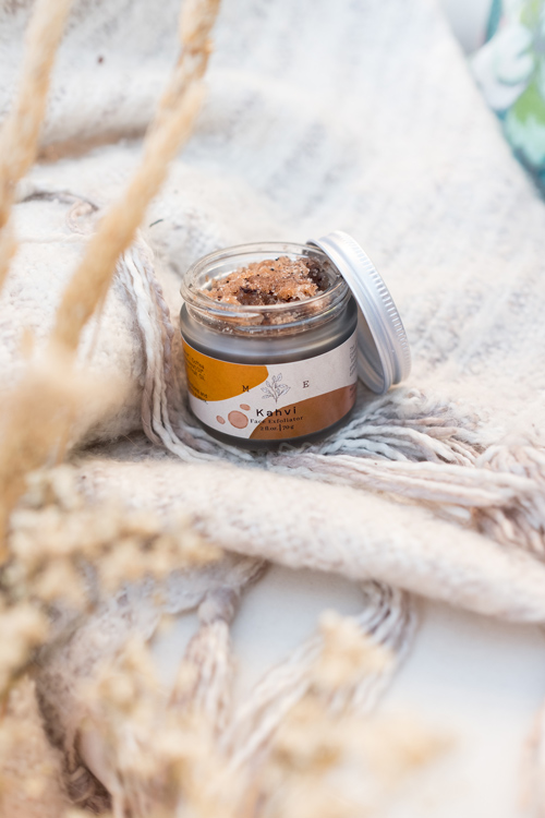 natural facial exfoliator made in Canada on Vancouver island by Matka