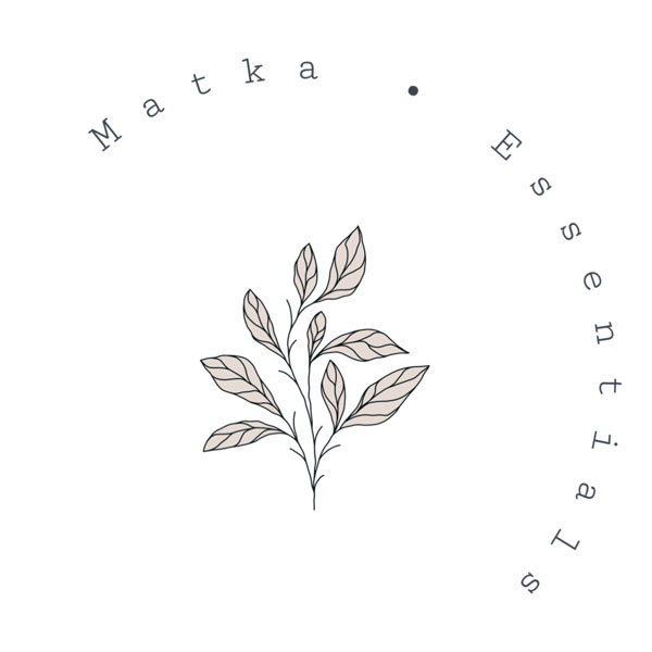 Matka Essentials logo, Natural Skincare made in Nanaimo B.C Canada