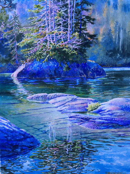 Watercolour painting by Vancouver Island artist Yvonne Maximchuk - Coast Gems
