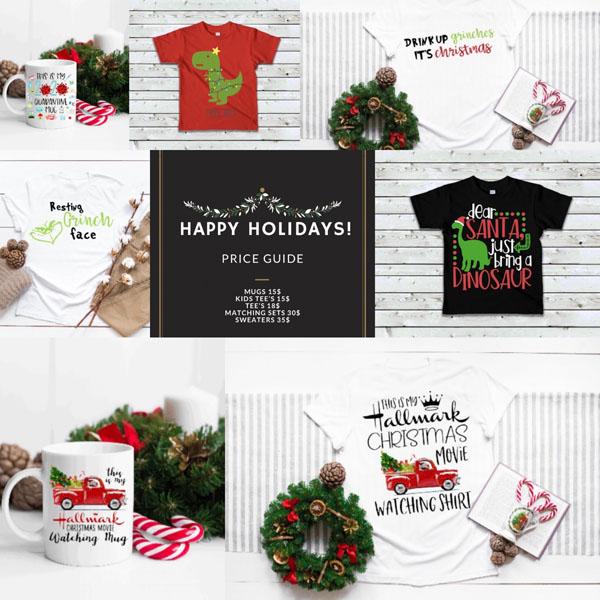 custom christmas mugs and tshirts from vancouver island