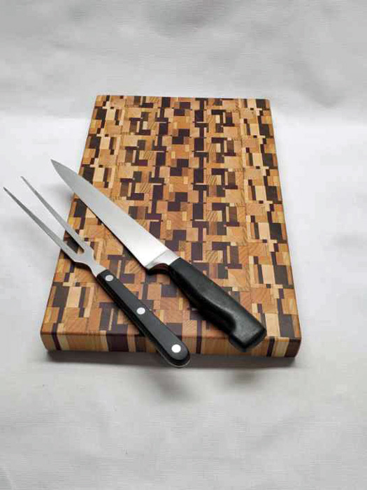 mixed wood cutting board charterie board made on vancouver island