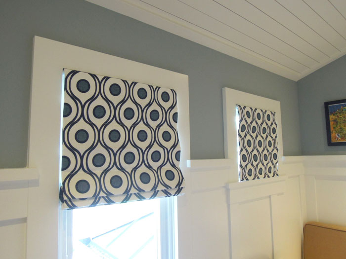 roman shades made locally in Ladysmith B.C. Vancouver Island
