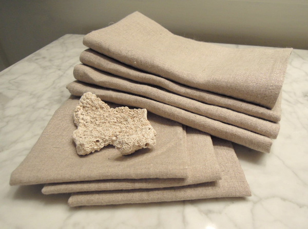 hemp and linen hand and face towels made in Canada on Vancouver Island B.C. by NikkiDesigns