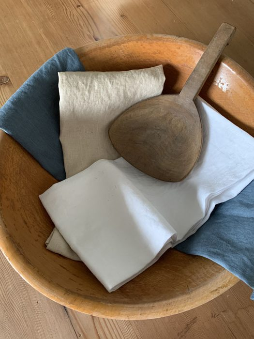 linen tea towels, canadian made home decor from vancouver island bc