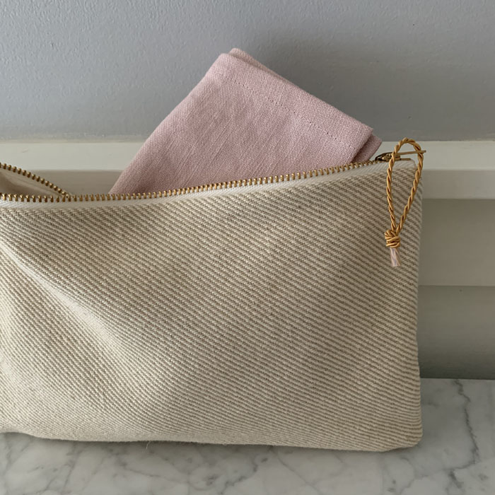 linen toiletry bag handmade on Vancouver Island by NikkiDesigns