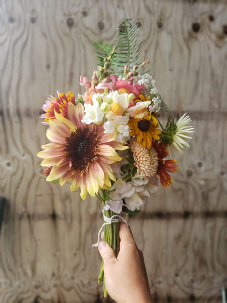 fresh cut floral bouquet subscription from Ladysmith Flower Farm Nobul Flora & Fauna Vancouver Island