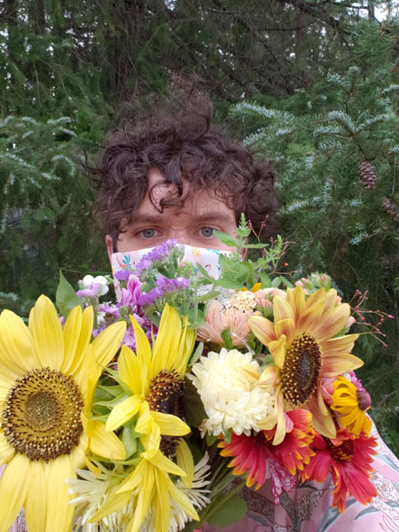 fresh cut floral bouquet delivery from Ladysmith Flower Farm Nobul Flora & Fauna Vancouver Island