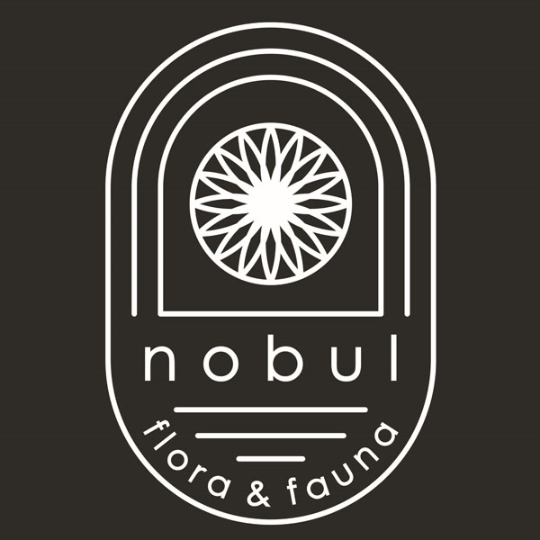 Nobul Farm Flora and Fauna logo, pesticide free flower farm offering bouquet subscriptions and delivery to central Vancouver Island