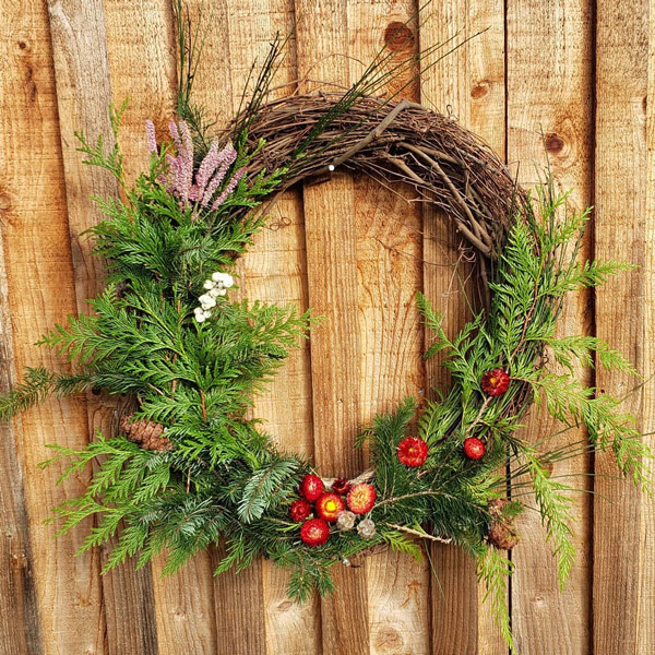 fresh wreaths made in Ladysmith on Vancouver Island