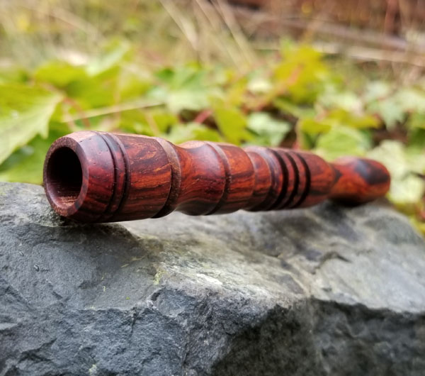 wooded pipe, handcrafted on Vancouver Island Canada by Nomadik Creative
