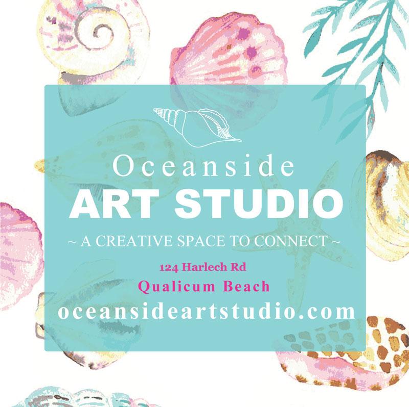 Oceanside Art Studio logo, art classes and paint parties in Qualicum Beach and Parksville