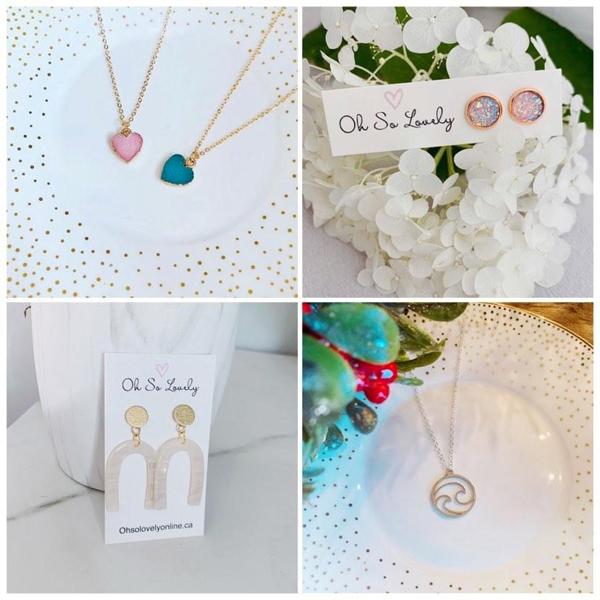 local stocking stuffer ideas made on vancouver islandnecklaces, earrings and necklaces