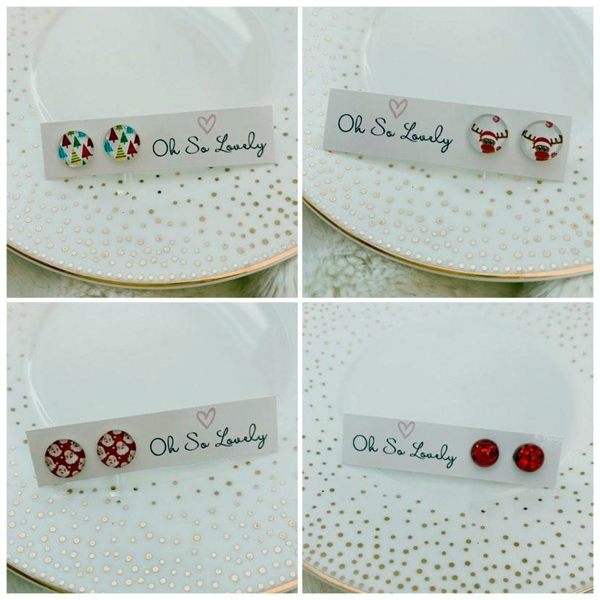christmas earrings, jewelry made on vancouver island in parksville bc