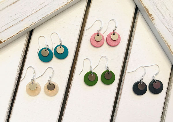 colourful handcrafted earrings made on Vancouver Island by Put a Perron