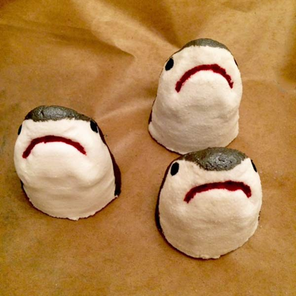 natural shark bath bombs, Vancouver Island made soap in Parksville by Raven's Nest