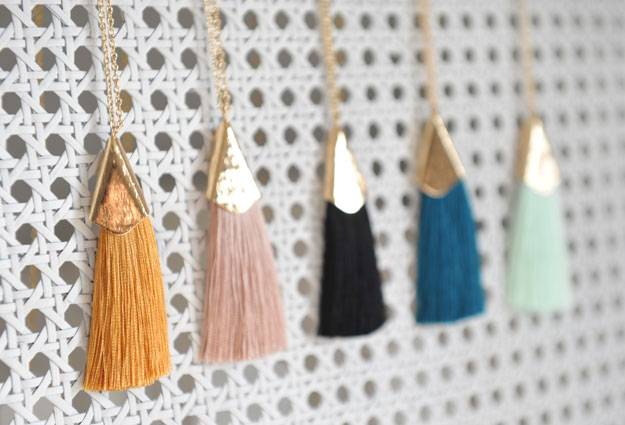 tassle necklaces, jewelry handmade on Vancouver Island by Oh So Lovely