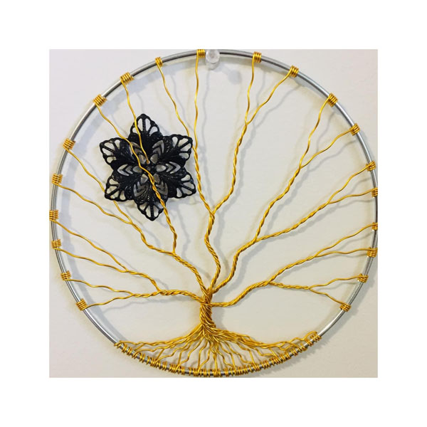 gold wire tree of life, Canadian made product on Vancouver Island by Rocklan Art