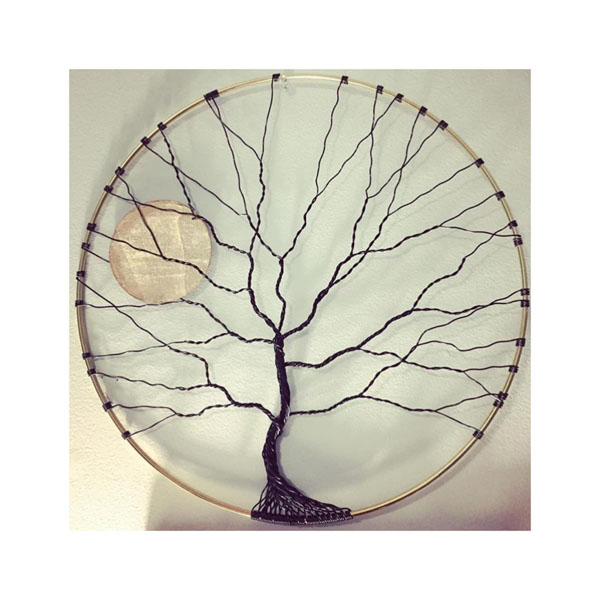 tree of life wire art, product made on Vancouver Island by Rocklan Art