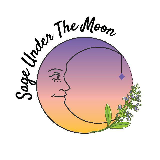 Sage Under The Moon logo, jewelry made in Canada on Vancouver Island