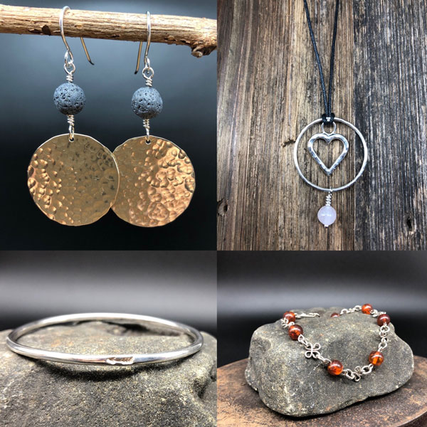Silver, brass, and copper jewelry for adults and kids vancouver island gift ideas