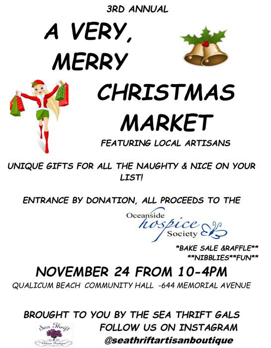 Very Merry Christmas market brochure, Qualicum Beach Christmas Market
