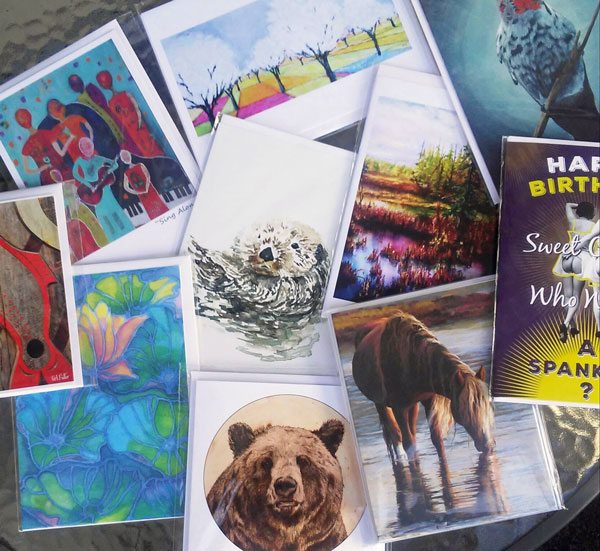 locally made cards sold in Qualicum Beach gift shop Sea Thrift Boutique