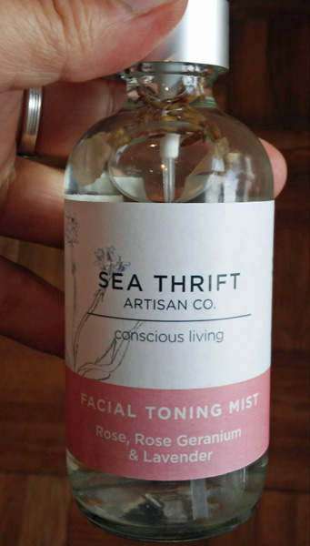 all natural rose and lavender facial toning mist, made on Vancouver Island in Qualicum Beach, Canada