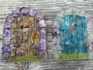 resin fairy doors, handmade in Qualicum Beach on Vancouver Island by Seabreeze Crafts
