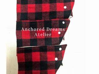 neck warmer plaid, stocking stuffer ideas made on Vancouver Island