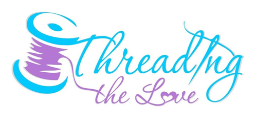 Threading the Love logo, personalized embroidery
