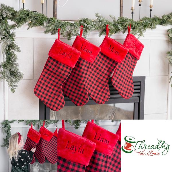 Personalized Buffalo Plain stockings made on vancouver island